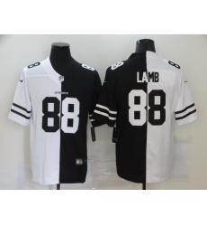 Men's Dallas Cowboys #88 CeeDee Lamb Black White Limited Split Fashion Football Jersey