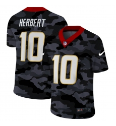 Men's Los Angeles Chargers #10 Justin Herbert Camo 2020 Nike Limited Jersey