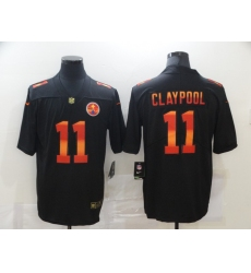 Men's Pittsburgh Steelers #11 Chase Claypool Black colorful Nike Limited Jersey