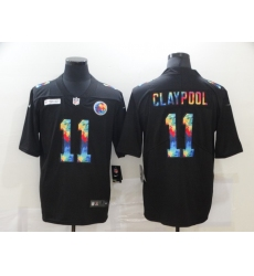 Men's Pittsburgh Steelers #11 Chase Claypool Rainbow Version Nike Limited Jersey