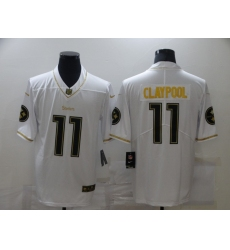 Men's Pittsburgh Steelers #11 Chase Claypool White Nike Limited Jerseys