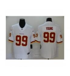 Washington Redskins #99 Chase Young white 2020 NFL Draft Vapor Limited Jersey