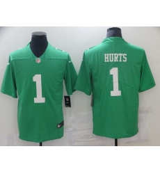 Men's Philadelphia Eagles #1 Jalen Hurts Limited Green Rush Vapor Untouchable Football Jersey