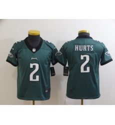 Youth Philadelphia Eagles #2 Jalen Hurts Green Alternate Vapor Untouchable Limited Jersey