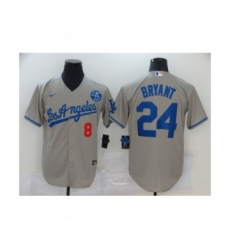 Los Angeles Dodgers Kobe Bryant Gray Jerseys