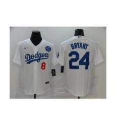 Los Angeles Dodgers Kobe Bryant White Jersey