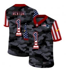 Men's New England Patriots #1 Cam Newton Camo Flag Nike Limited Jersey