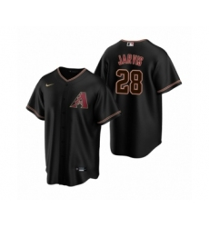 Men's Arizona Diamondbacks #28 Bryce Jarvis Black 2020 MLB Draft Replica Alternate Jersey