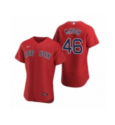 Men's Boston Red Sox #46 Collin McHugh Nike Red Authentic 2020 Alternate Jersey