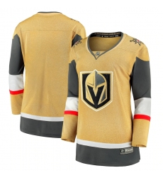 Women's Vegas Golden Knights Fanatics Branded Gold 2020-21 Alternate Premier Break away Jersey