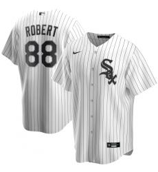 Men's Chicago White Sox #88 Luis Robert Nike White Home 2020 Replica Player Jersey