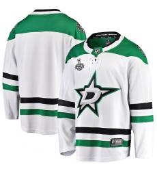Men's Dallas Stars Blank Fanatics Branded White 2020 Stanley Cup Final Bound Away Breakaway Jersey