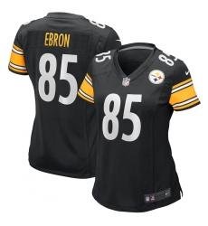 Women's Pittsburgh Steelers #85 Eric Ebron Nike Black Game Jersey