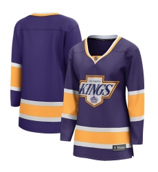 Women's Los Angeles Kings Fanatics Branded Blank Purple 2020-21 Special Edition Breakaway Jersey