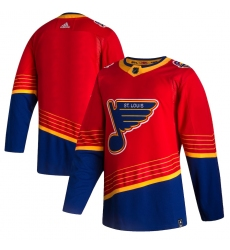 Men's St. Louis Blues adidas Blank Red 2020-21 Reverse Retro Authentic Jersey