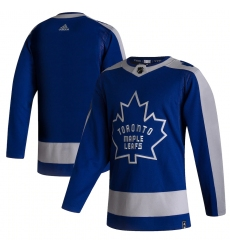 Men's Toronto Maple Leafs adidas Blank Blue 2020-21 Reverse Retro Authentic Jersey