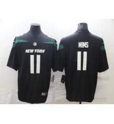 Men's New York Jets #11 Denzel Mims Black Nike Leopard Jersey