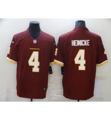 Men's Washington Football Team #4 Taylor Heinicke Nike Burgundy Limited Jersey
