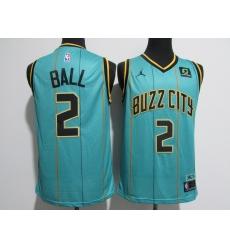 Men's Charlotte Hornets #2 Lamelo Ball Jordan Brand Teal Green Swingman Jersey