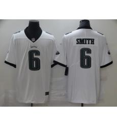 Men's Philadelphia Eagles #6 DeVonta Smith Nike White 2021 Draft First Round Pick Limited Jersey