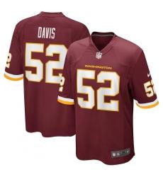 Men's Washington Football Team #52 Jamin Davis Nike Burgundy 2021 NFL Draft First Round Pick Game Jersey