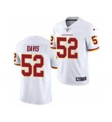 Men's Washington Football Team #52 Jamin Davis White 2021 Football Draft Limited Jersey