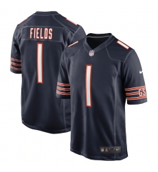 Youth Chicago Bears #1 Justin Fields Nike Navy 2021 NFL Draft First Round Pick Limited Jersey