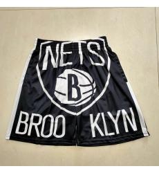 Men's Brooklyn Nets Black Classics Shorts