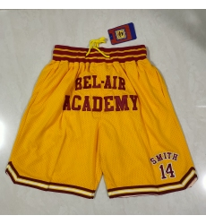 Men's Los Angeles Lakers Bryant high school edition yellow pocket Shorts