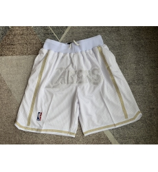 Men's Los Angeles Lakers White bag Shorts