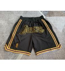 Men's Los Angeles Lakers Yellow and black city version of Juston retro Shorts
