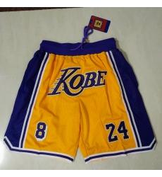 Men's Los Angeles Lakers Yellow bag Shorts