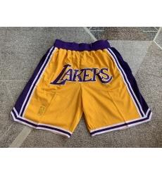 Men's Los Angeles Lakers Yellow vintage Juston pocket Shorts