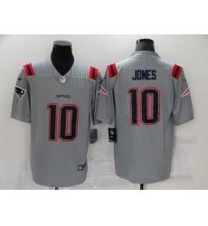 Men's New England Patriots #10 Mac Jones Gray Nike Silver Inverted Legend Jersey