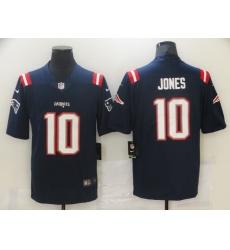 Men's New England Patriots #10 Mac Jones Nike Navy 2021 NFL Draft First Round Pick Leopard Jersey