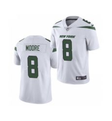 Men's New York Jets #8 Elijah Moore 2021 White Vapor Untouchable Limited Jersey