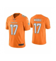 Men's Miami Dolphins #17 Jaylen Waddle Orange 2021 Vapor Untouchable Limited Jersey