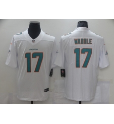 Men's Miami Dolphins #17 Jaylen Waddle White Nike Aqua 2021 Draft First Round Pick Leopard Jersey