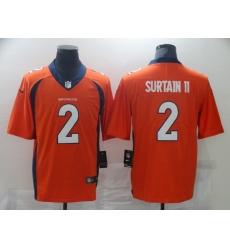 Men's Denver Broncos #2 Patrick Surtain II Nike Orange 2021 NFL Draft First Round Pick Limited Jersey