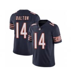 Men's Chicago Bears #14 Andy Dalton Navy Vapor Untouchable Limited Jersey