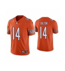 Men's Chicago Bears #14 Andy Dalton Orange Vapor Untouchable Limited Jersey