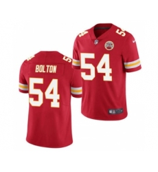 Men's Kansas City Chiefs #54 Nick Bolton Red 2021 Draft Limited Stitched Football Jersey