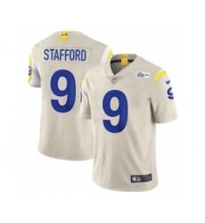 Men's Los Angeles Rams #9 Matthew Stafford Bone Stitched Football Limited Jersey
