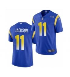 Men's Los Angeles Rams #11 DeSean Jackson Blue Bone Stitched Football Limited Jersey