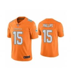 Men's Miami Dolphins #15 Jaelan Phillips Orange 2021 Stitched Football Limited Jersey