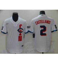 Men's Cincinnati Reds #2 Nick Castellanos Nike White 2021 MLB All-Star Game Replica Jersey