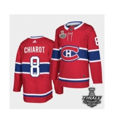 Men's Adidas Canadiens #8 Ben Chiarot Red Road Authentic 2021 Stanley Cup Jersey