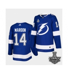 Men's Adidas Lightning #14 Patrick Maroon Blue Home Authentic 2021 Stanley Cup Jersey