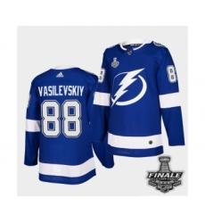 Men's Adidas Lightning #88 Andrei Vasilevskiy Blue Home Authentic 2021 Stanley Cup Jersey