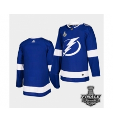 Men's Adidas Lightning Blue Home Authentic 2021 Stanley Cup Jersey